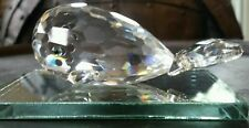 SWAROVSKI CRYSTAL AUSTRIAN MOBY DICK WHALE FIGURINE PAPER WEIGHT ON MIRROR