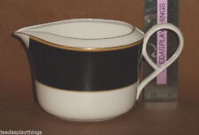 "Daniel Hechter Creamer VENETIAN EBONY Bone China Cream 3"" Vtg"