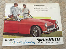 AUSTIN HEALEY OFFICIAL SPRITE Mk III PRESTIGE BROCHURE 1966 USA EDITION.