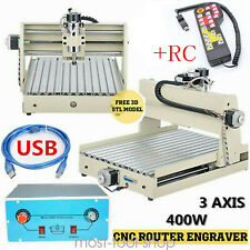 New listing 3 Axis 400W Cnc 3040T Router Wood Engraving Milling Cutting Machine + Controller