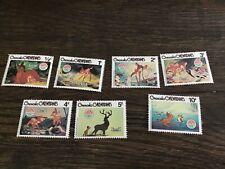 (7) Grenada Grenadines 1980 Scott #411-417 Christmas Disney Bambi Mint Nh
