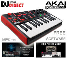 AKAI MPK Mini 2 MK2 MIDI USB Electronic Keyboard Controller + FREE SOFTWARE