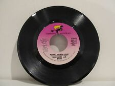 45 RECORD INNER CITY JAM BAND - WHAT I DID FOR LOVE