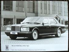 El nuevo Rolls-Royce Silver Spur prensa Fotografía Negro y Blanco sin fecha