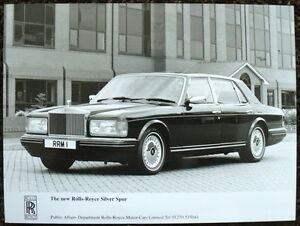 THE NEW ROLLS-ROYCE SILVER SPUR PRESS PHOTOGRAPH BLACK & WHITE UNDATED