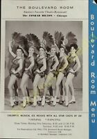 Vintage Menu The Boulevard Room The Conrad Hilton Chicago Dining Dancing