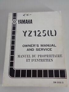 Taller Manual / Manual D'Entretien Yamaha YZ 125 L Moto de Cross Desde 09/1983