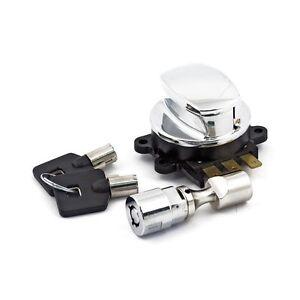 Ignition Key And Steering Lock set For Harley-Davidson Models Listed.