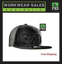 FXD CP-6 STARTER CAP, NEW STYLE BLACK SNAP BACK HAT, FLAT PEAK. RRP $49.95
