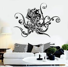 Vinyl Wall Decal Octopus Sea Monster Art Decor Marine Style Stickers (924ig)