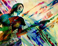 Thom Yorke Art Print, Radiohead Canvas, Indie rock artwork