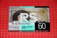 DENON RS  60  BLANK CASSETTE TAPE (1) (SEALED)