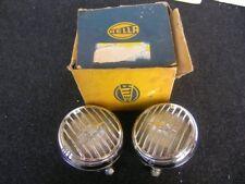 HELLA CHROME GUARD RALLY FOG LAMP LIGHT FOGLIGHTS PORSCHE 356 BODY MOUNT NOS