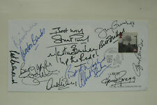 FDC SIGNED BY 12 BANKS, BUCHAN, GREGG, FOULKES, CHARLTON, GREENHOFF, ETC (4)
