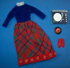 Vintage SKIPPER PLATTER PARTY #1914 Red Record Player Red Shoes Barbie 1965