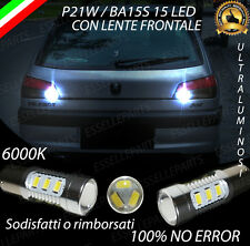 COPPIA LUCI RETROMARCIA 15 LED P21W BA15S CANBUS PEUGEOT 306 NO ERROR