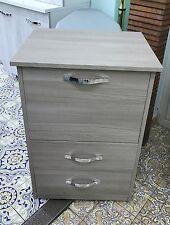 Mobile stiro con 2 cassetti e cestello colore Olmo  in legno salvaspazio