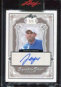 2021 Leaf Signatures Series Sports Sergio Garcia Silver Auto Autograph #'d 1/1