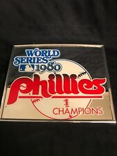 Phillies World Series Champions 1980 Mirror 10in Collectible