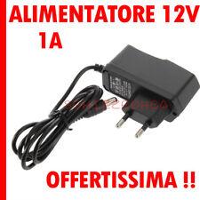 Alimentatore 12V 1A DC switching led videosorveglianza telecamera videocamera