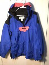Vintage 90's Columbia Men's XL Pullover Anorak Ski Jacket Radial Sleeve 1/4 Zip