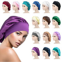 Women Satin Bonnet Hair Styling Cap Sleep Hat Silk Shower Hair Styling Tools