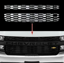 2019 2020 Chevy Silverado 1500 CHROME Snap On Grille Overlay Grill Covers