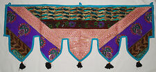 New Patchwork Sequin Toran Wall Hanging Hippy Fairly Traded Ethnic Boho Sparkle