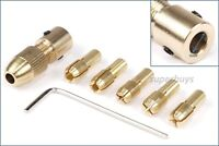5mm 7pcs Small 0.5mm - 3mm Brass Collet Electric Drill Bit Chuck Set Wrench Tool