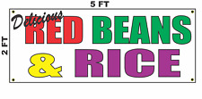 Delicious Red Beans and Rice Banner Sign NEW 2x5