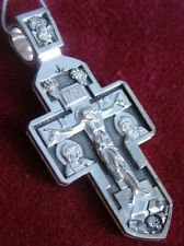 Russian Russia Orthodox Icon Cross Christ Guardian Angel Silver 925 #14.61