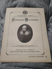 More details for shakespeare cercentenary theatre  royal exeter souvenir programme  1916 rare htf