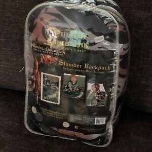 Disney Pirates of the Caribbean Dead Man's Chest Slumber Backpack & Sleeping Bag