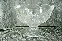 Bohemia Czech Republic Compote Footed Fruit Bowl Lead Crystal 24% Lead Heavy Wt.