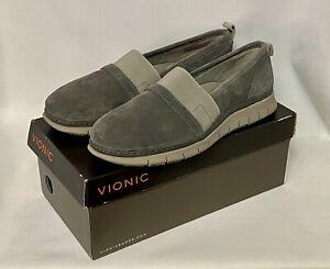 Vionic Orthotic Kristi Flat Grey Casual Shoes UK7 Wide EU40 US9