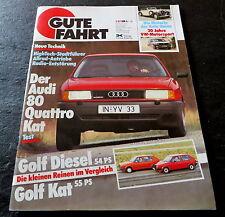 Gute Fahrt 02/87 Test Audi 80 Quattro 113 PS,Porsche 911 Pitz Design,Golf Kat/D