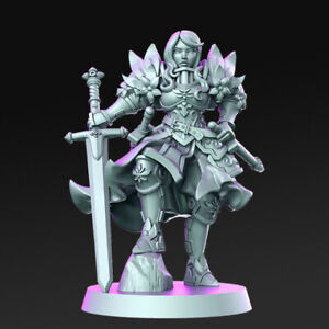 Tabletop Premium Miniature Paladin Angeline 28mm For Warhammer/ Aos / Dnd