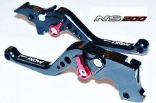 PULSAR NS 200 6 Position Adjustable Brake SHORT Clutch Levers BLACK