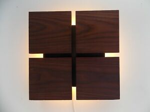 Wooden wall lamp home art decor for Bedroom model WV2100 Natural solid Dries ASH