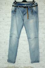 Italy Vintage Chino Jeans Skinny Boyfriend Hose Gr.XL 42 44 Denim blogger Gürtel