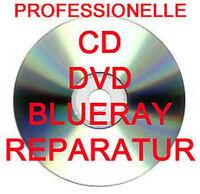 PROFESSIONELLE CD / DVD / BLURAY / SPIELE DISC REPARATUR - 10 STÜCK