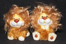 Cute Lion Decorative Ornaments Figurine Statuette Garden Decoration (Set of Two)