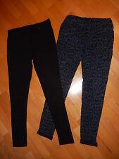 Neu 2 x  Leggings Stretch Hose ~ Gr. S - M ~ Leggins ~ schwarz & blau Leo ~