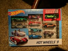 New - Mattel Hot Wheels - 9 Car Gift Pack Set w/ Exclusive Decoration
