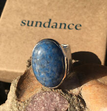 New Sundance Jes MaHarry Touchstone Ring 7 Silver Denim Lapis $690 super wide  A