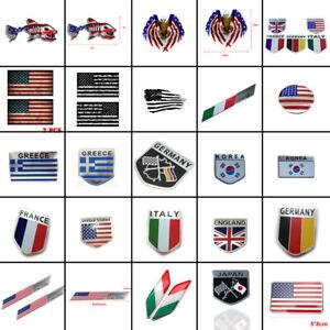 US/Italy/Japan/Greece/Germany/France/Korea Flag Car Sticker Emblem Badges Decal