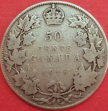 1918 Silver Canadian 50 Cent Coin  ID #94-11