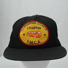 Vintage Converted Coach Chapter - FMCA Bus - Mesh Trucker Snapback Hat Cap USA