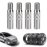 4PCS Metal Tyre Tire Wheel Valve Extension Extender Caps Stem For Car Truck Van