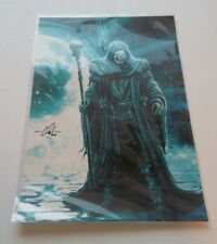 Skeleton Wizard 2016 Poster/Picture Nm Condition Evil Skeleton Staff Colorful